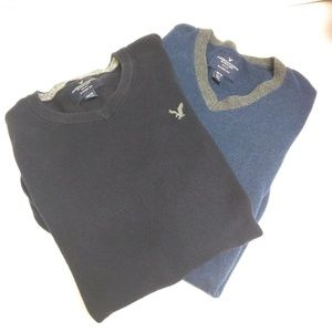 American Eagle lot 2 sweaters size XS navy black